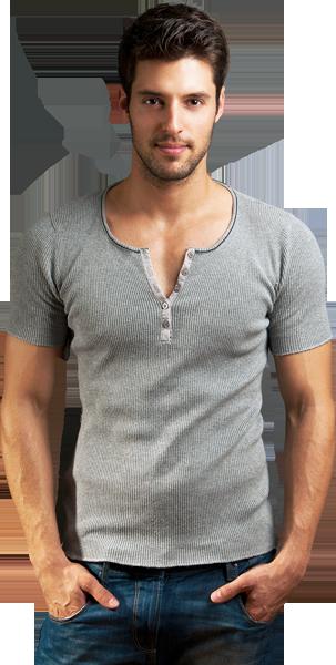 Arrangiertes Foto mit männlichem Model für die Elite-Escort-Agentur Agents & Heroes.